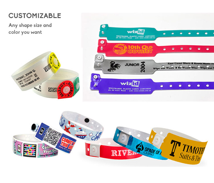 Printed PVC Wristband Disposable