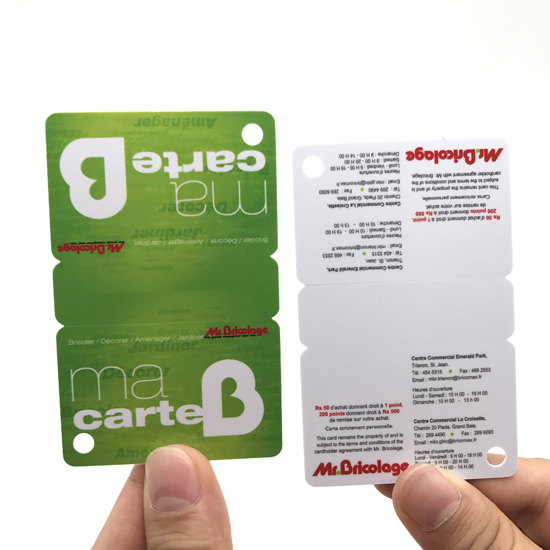 3 up Membership PVC Card