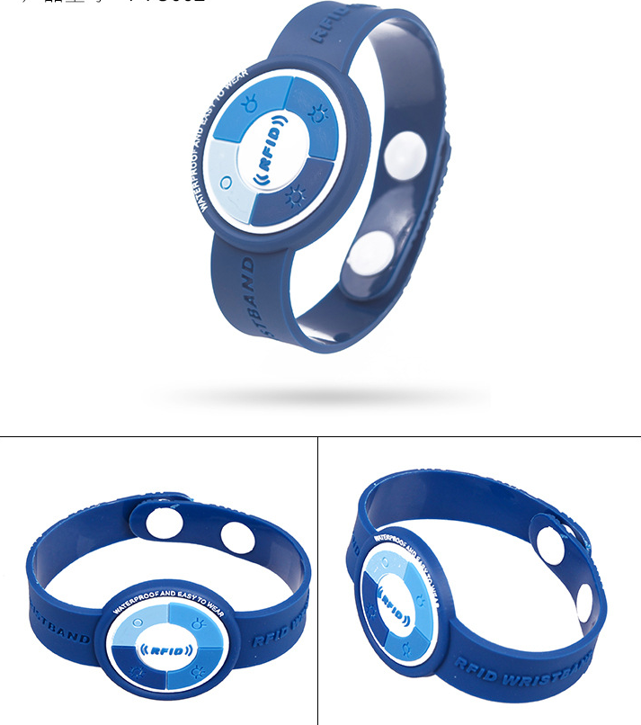 Pvc Wristband With Button