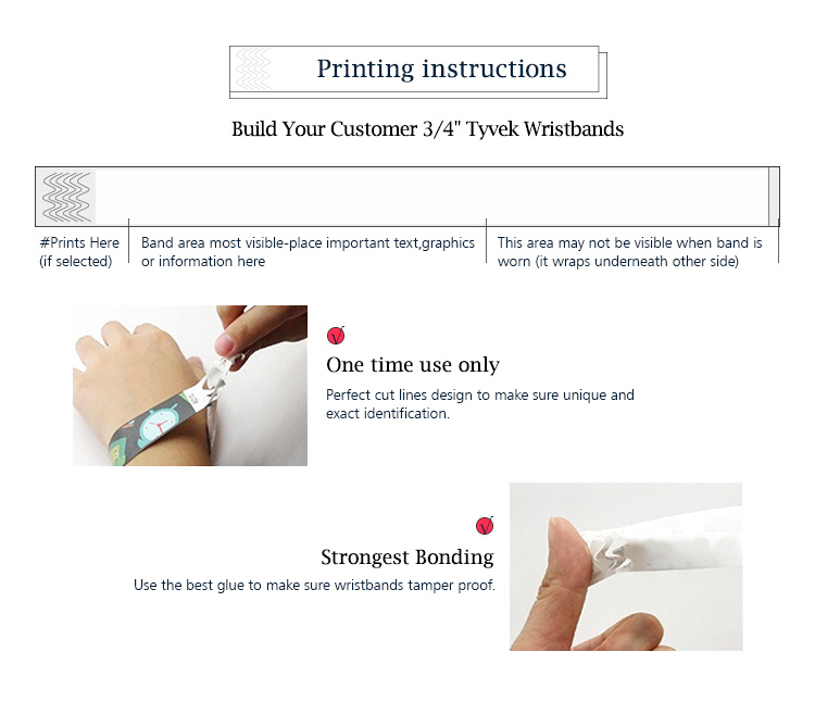 13.56mhz Rfid Paper Wristband