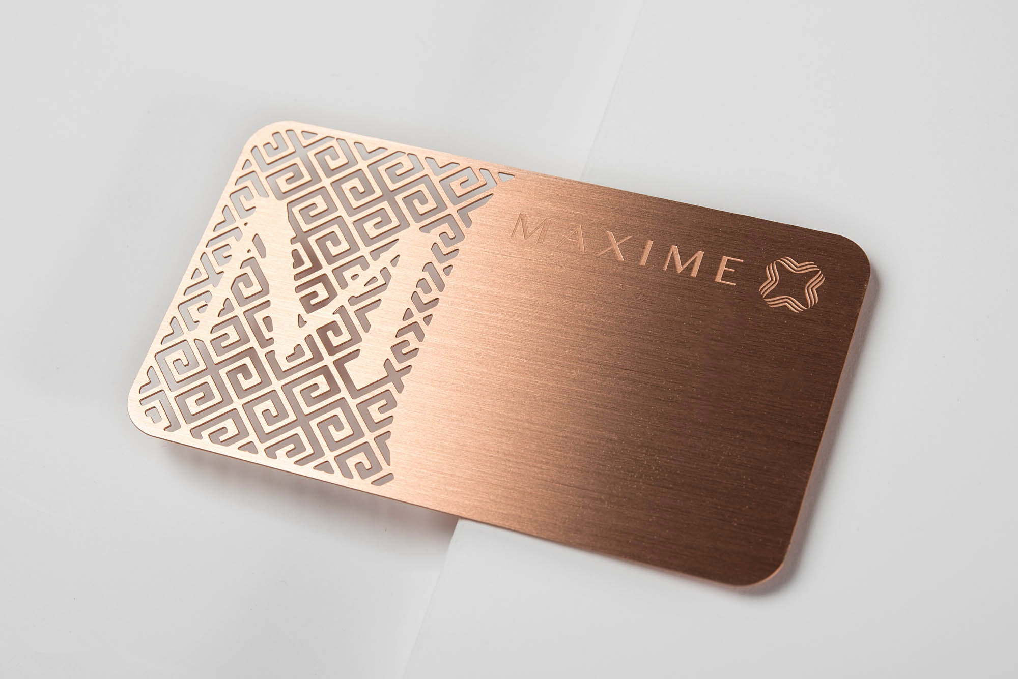 Gold Color Metal Business Card