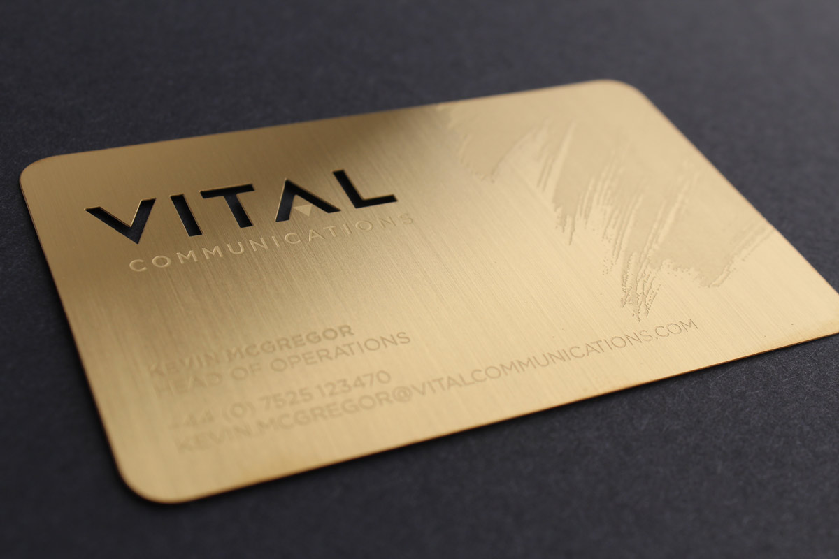metal membership card