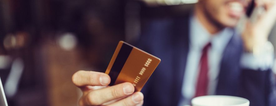 Hotel key card with magnetic stripe