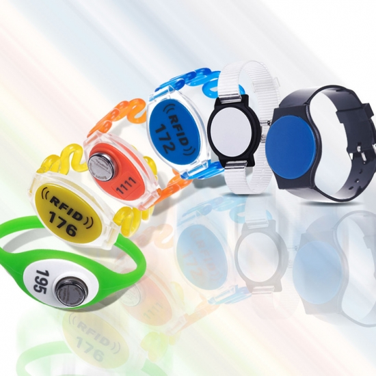 Customized RFID Plastic Wristband With Printing